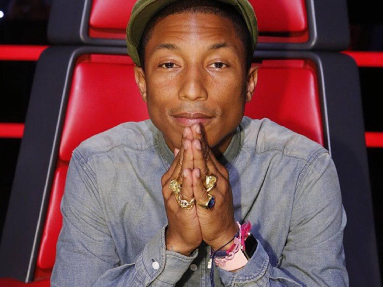 Pharrell mit Apple Watch
