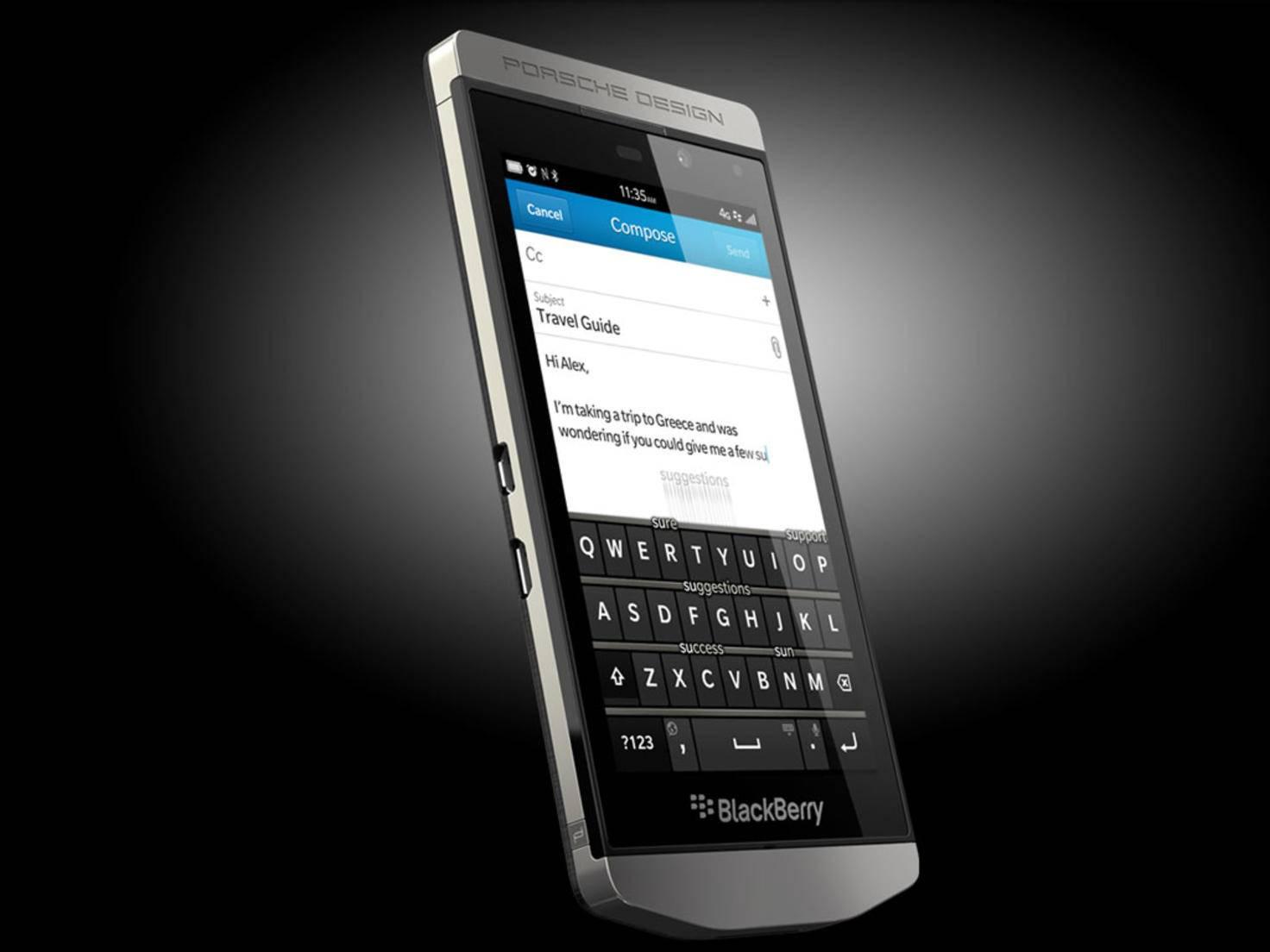 Das P'9982 Smartphone von Blackberry