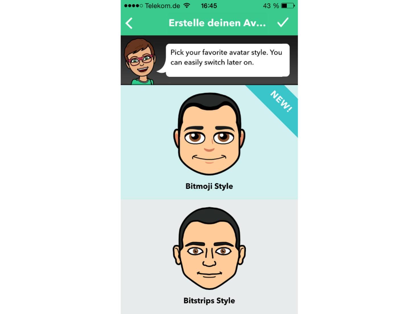 In Bitmoji kannst Du Deinen eigenen Avatar erstellen.