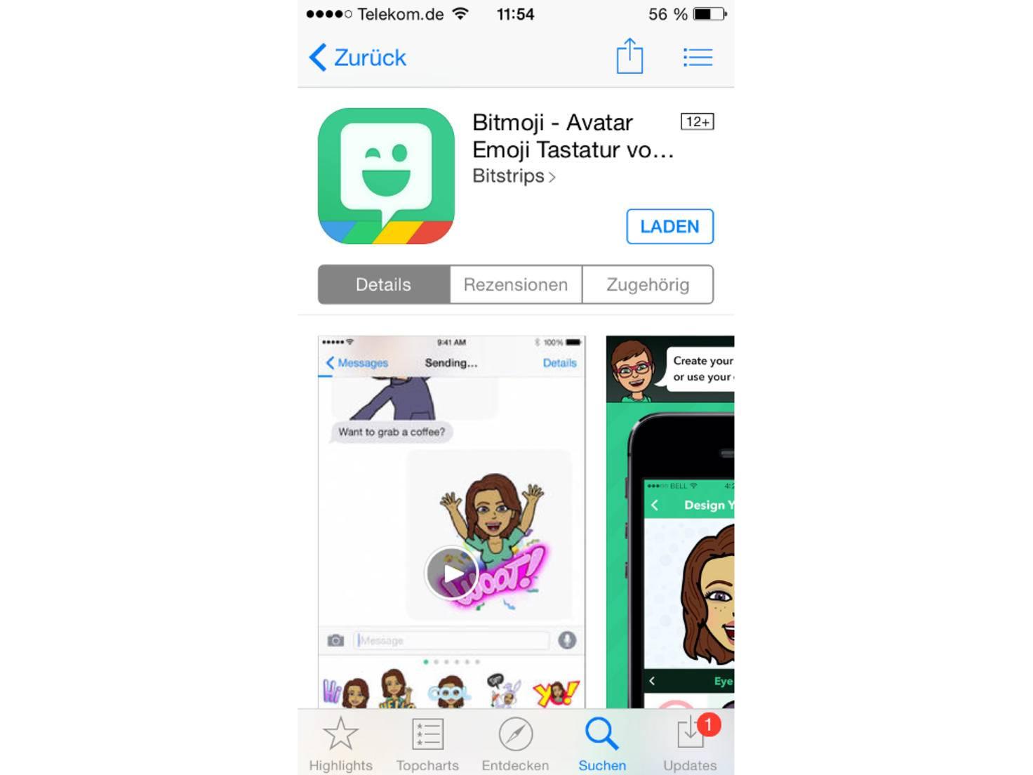 Bitmoji gibt es für iOS und Android.