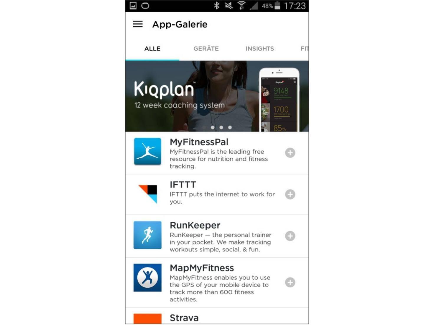 Auch die Integration von Drittanbieter-Apps ist möglich.