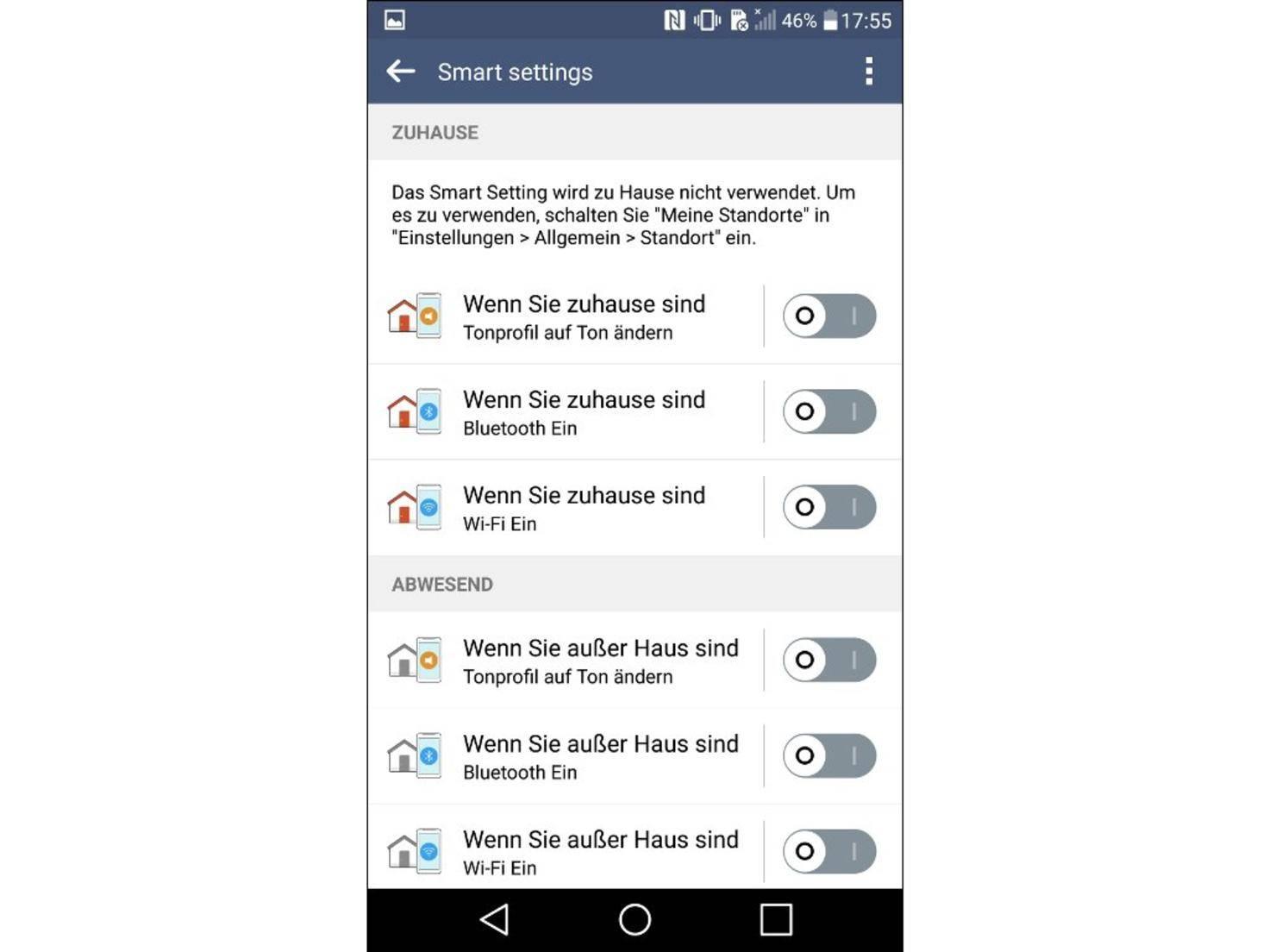 LG G4 Smart settings