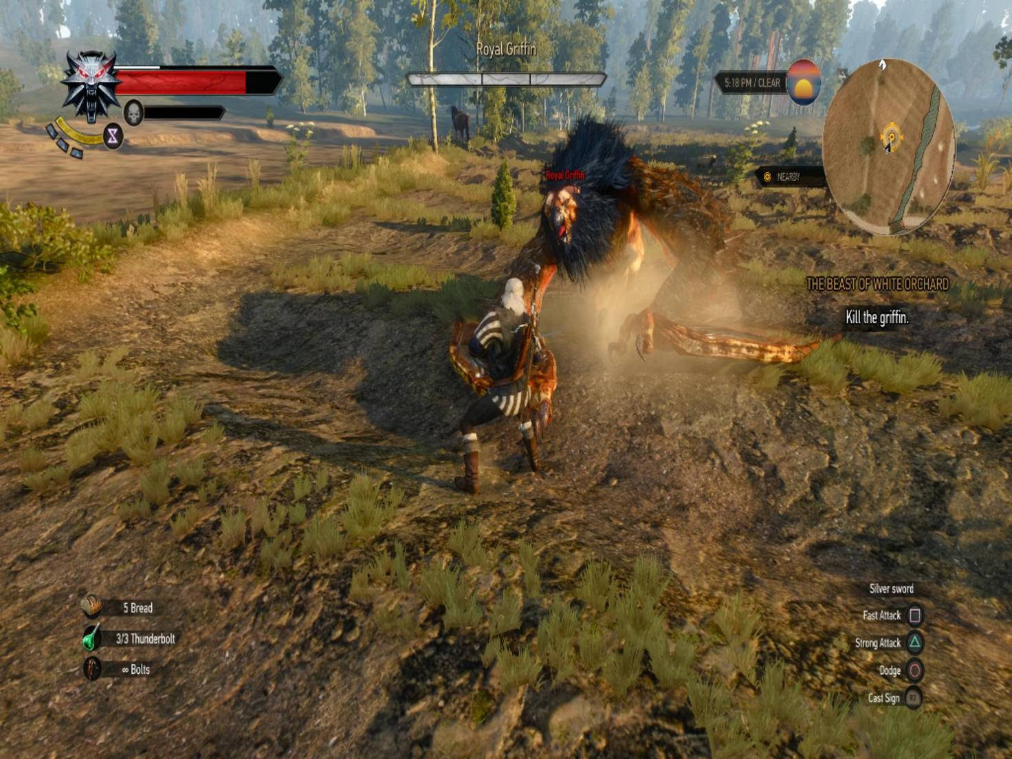 Der Kampf gegen den Greif gehört zu den ersten Highlights des Spiels.