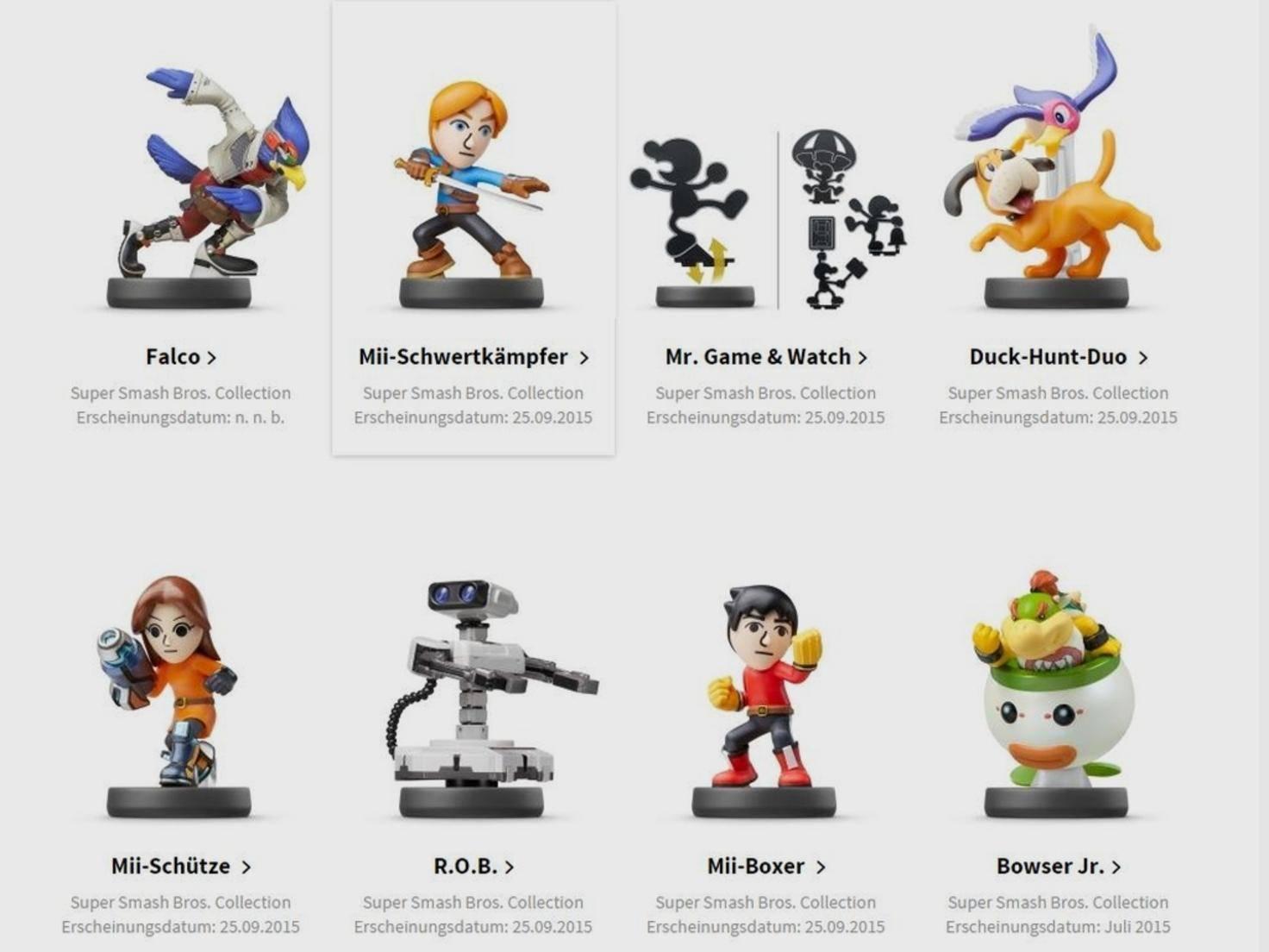 Neue Amiibos von Nintendo