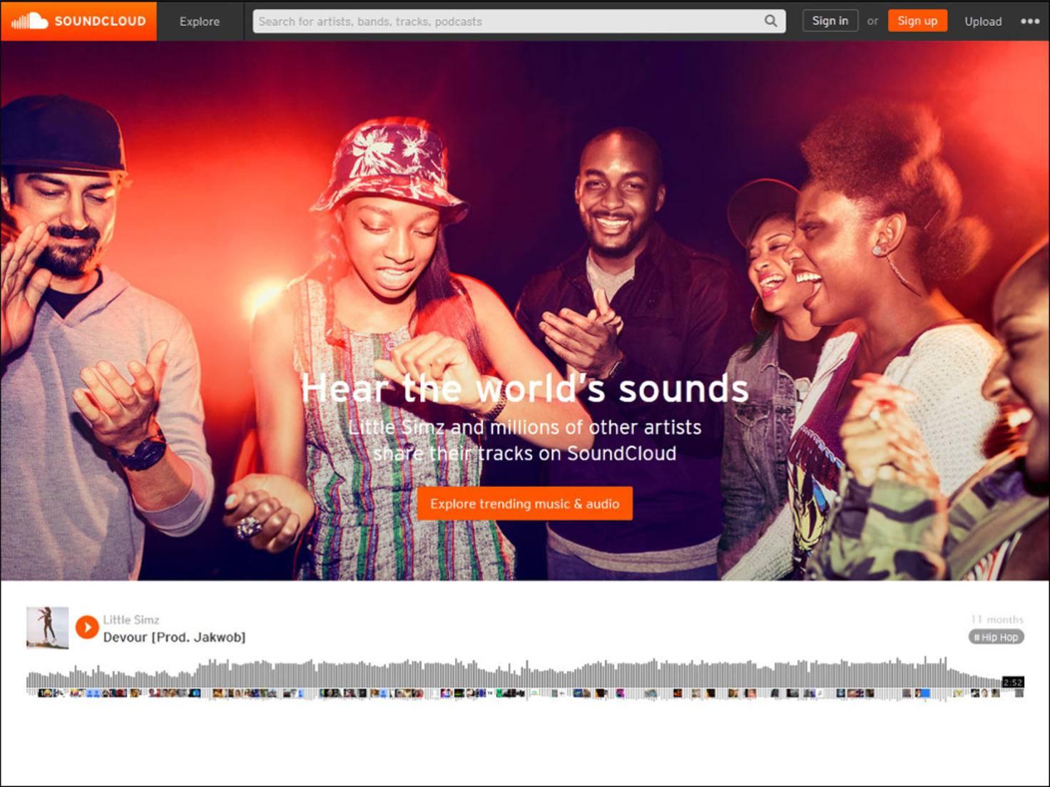 Stellt dir Musiker in den Vordergrund: Auf Soundcloud können Künstler ihre Musik präsentieren.
