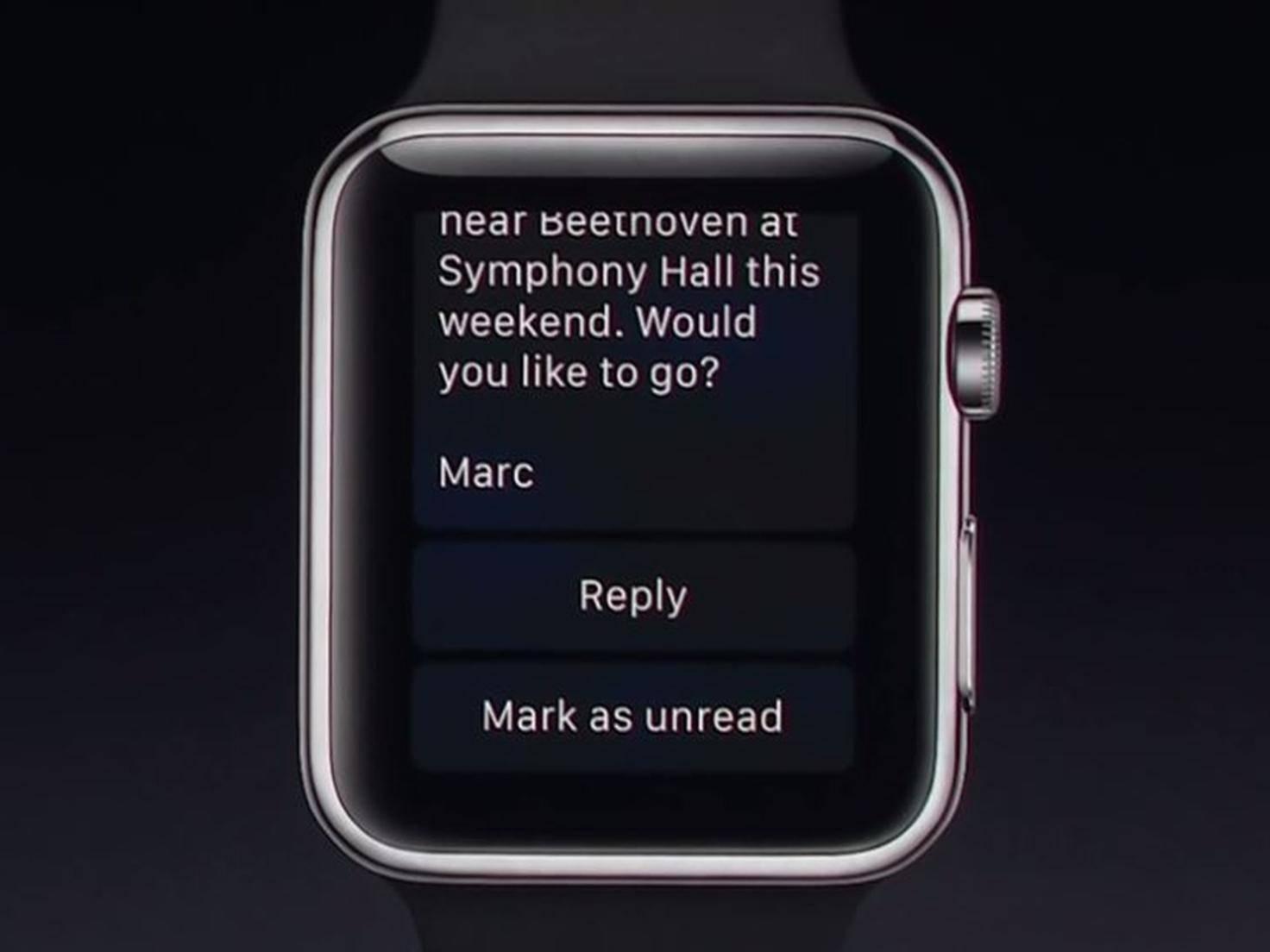 Apple Watch mit watchOS 2