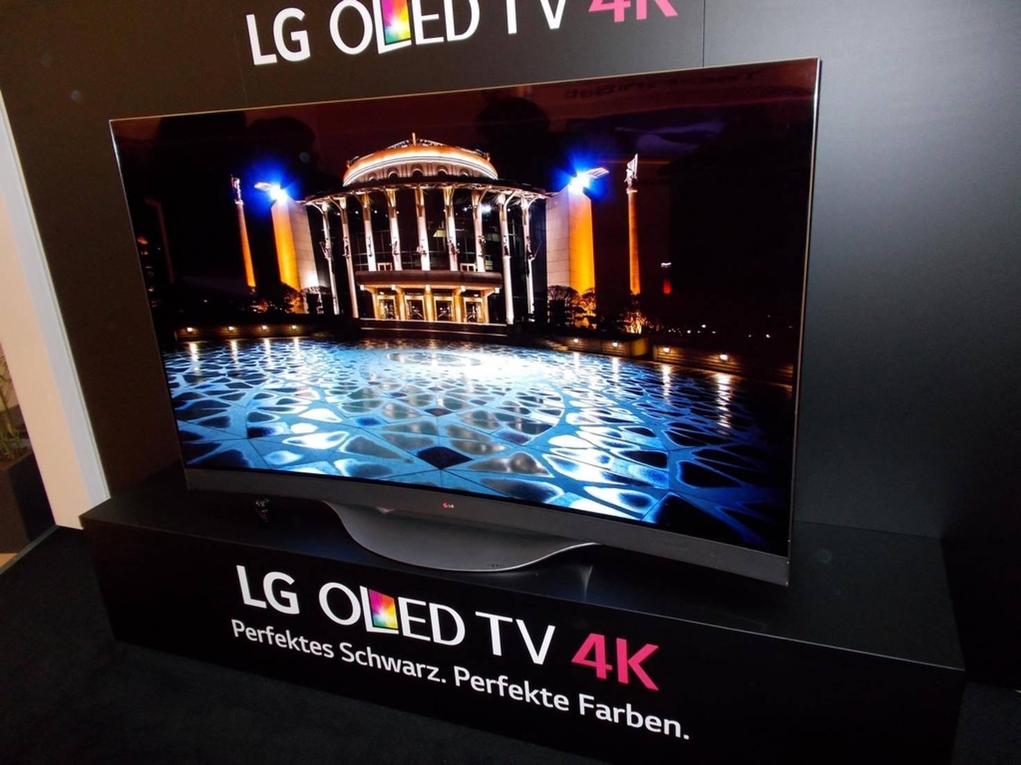 Bei LG standen die OLED-TVs im Mittelpunkt.
