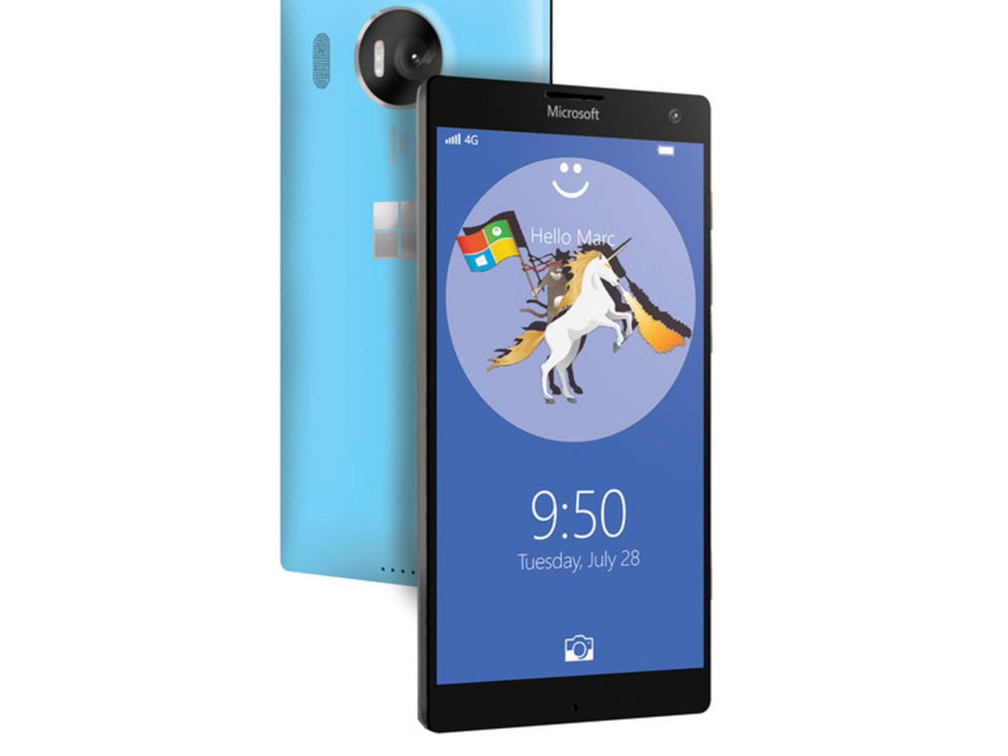 So könnte das Lumia 950 XL aussehen.