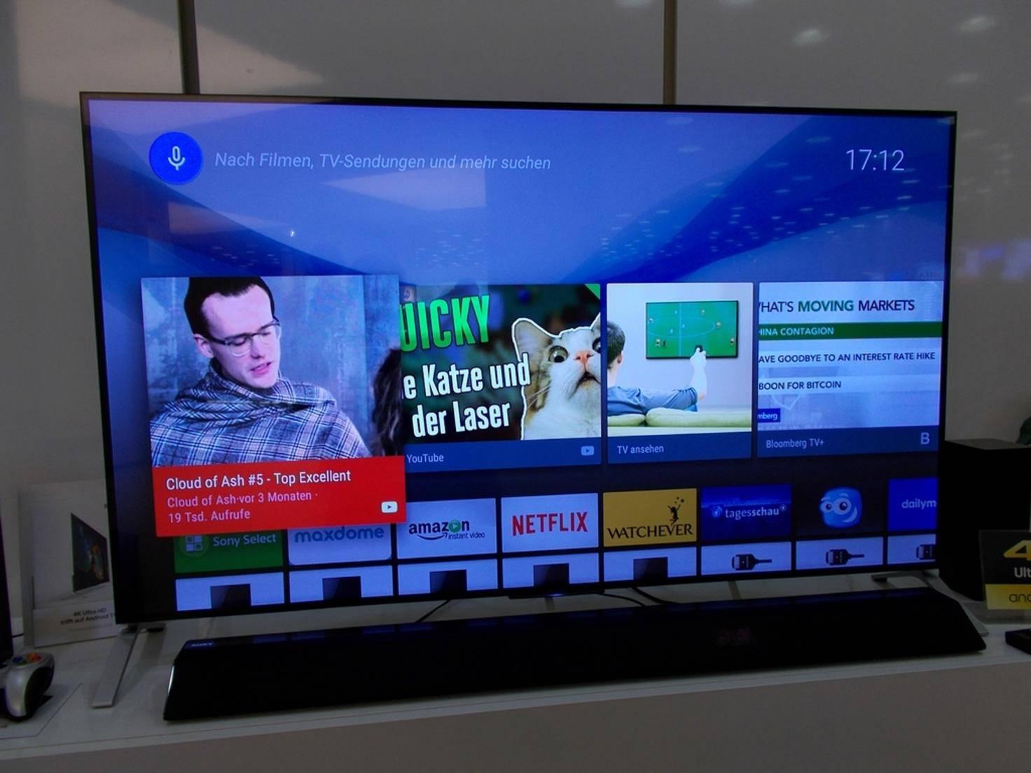 Auch der X900C von Sony wird mit android TV ausgeliefert.