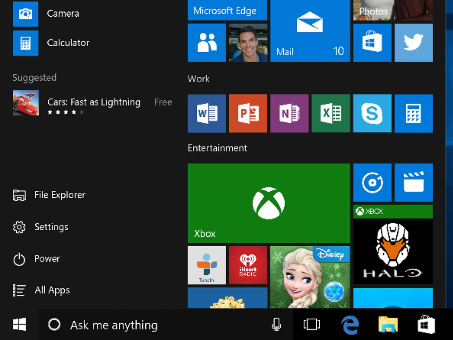Windows 10 Taskleiste