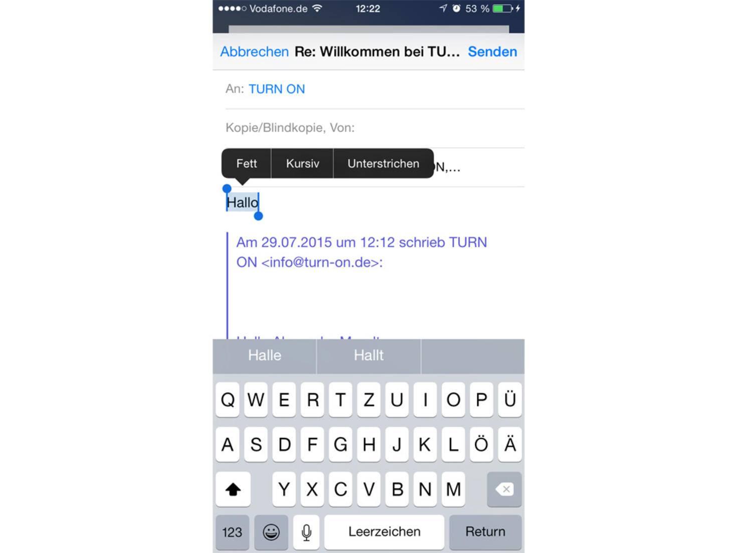 iPhone-6-Formatierungen