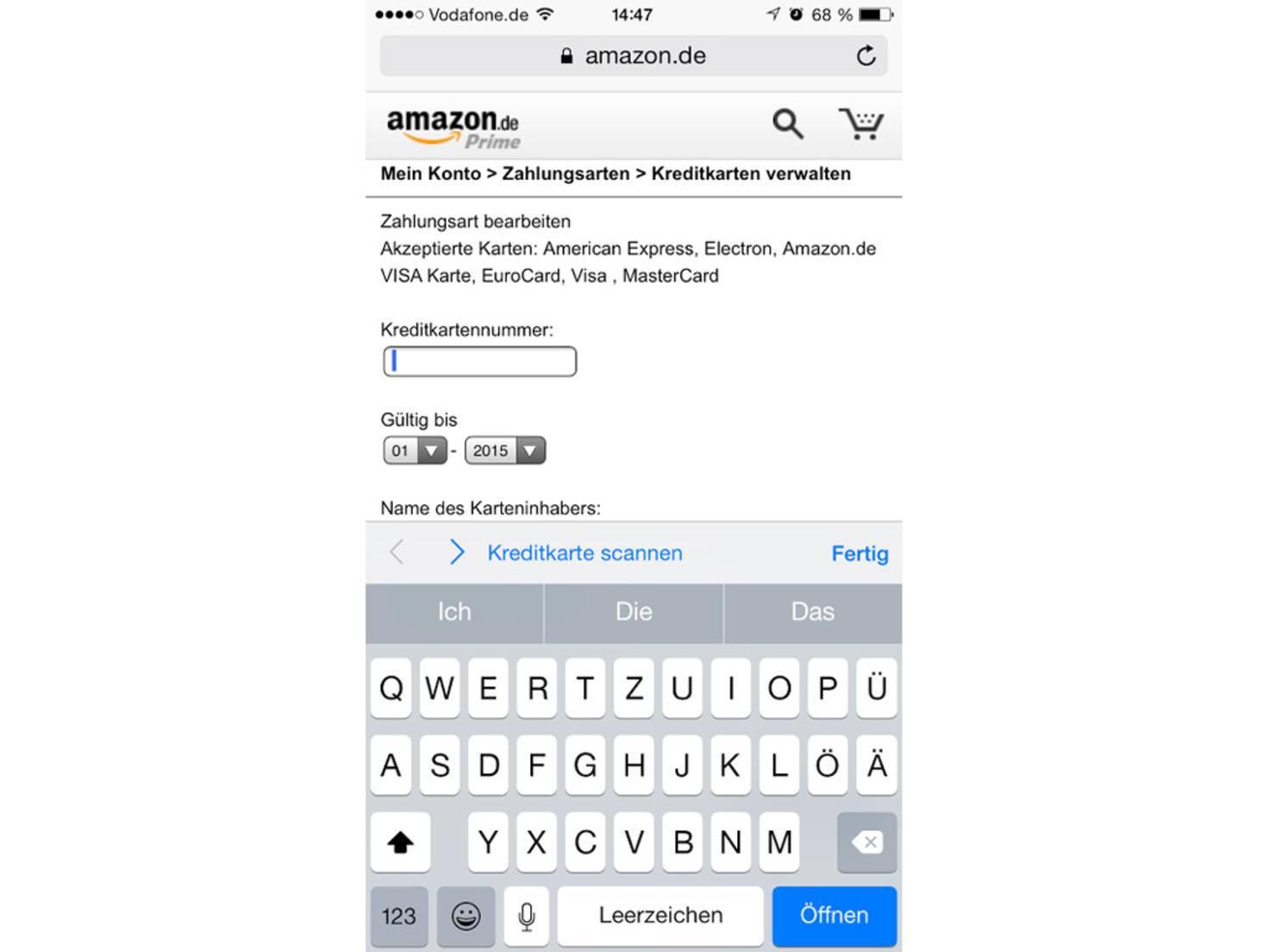 iPhone-6-Kreditkarte