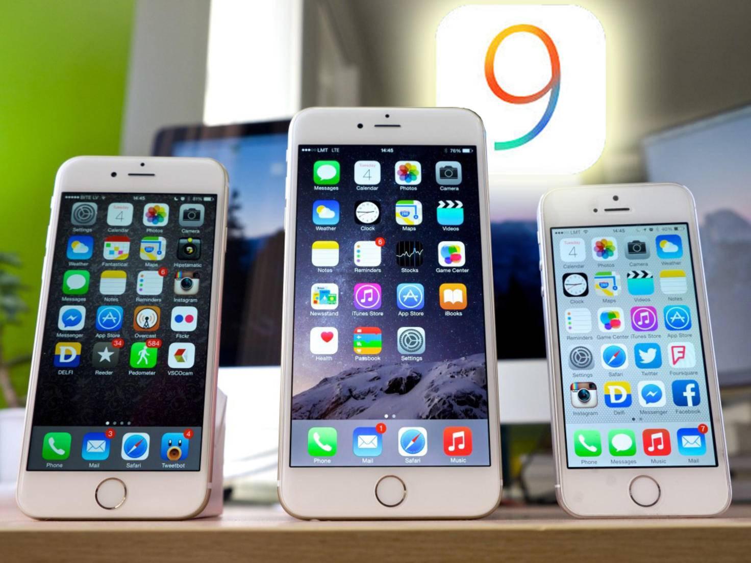 iPhone 5s und 6 und 6 Plus iOS9