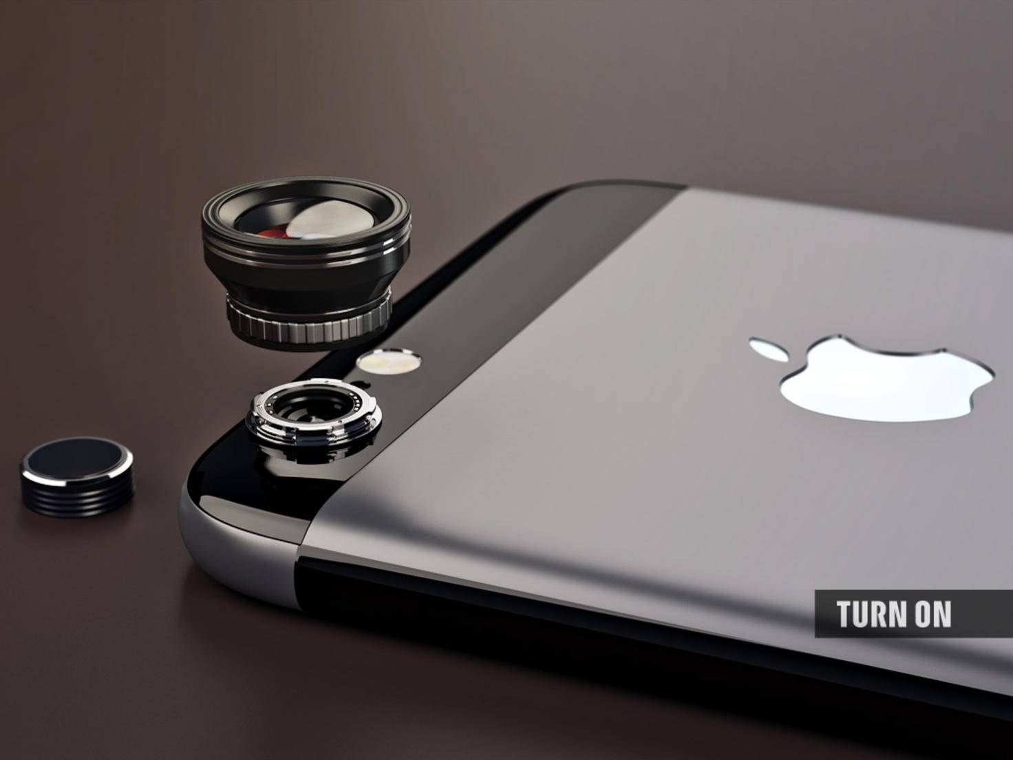 For more photographic freedom the iPhone's original lens would be detachable.