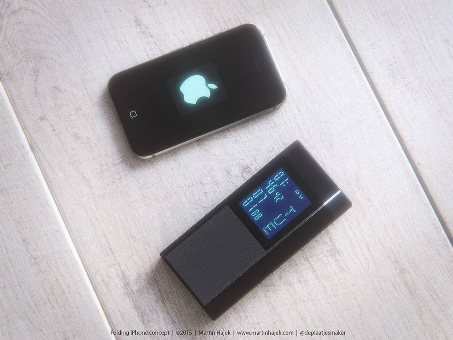 So stellt sich Martin Hajek ein Apple-Klapphandy vor.