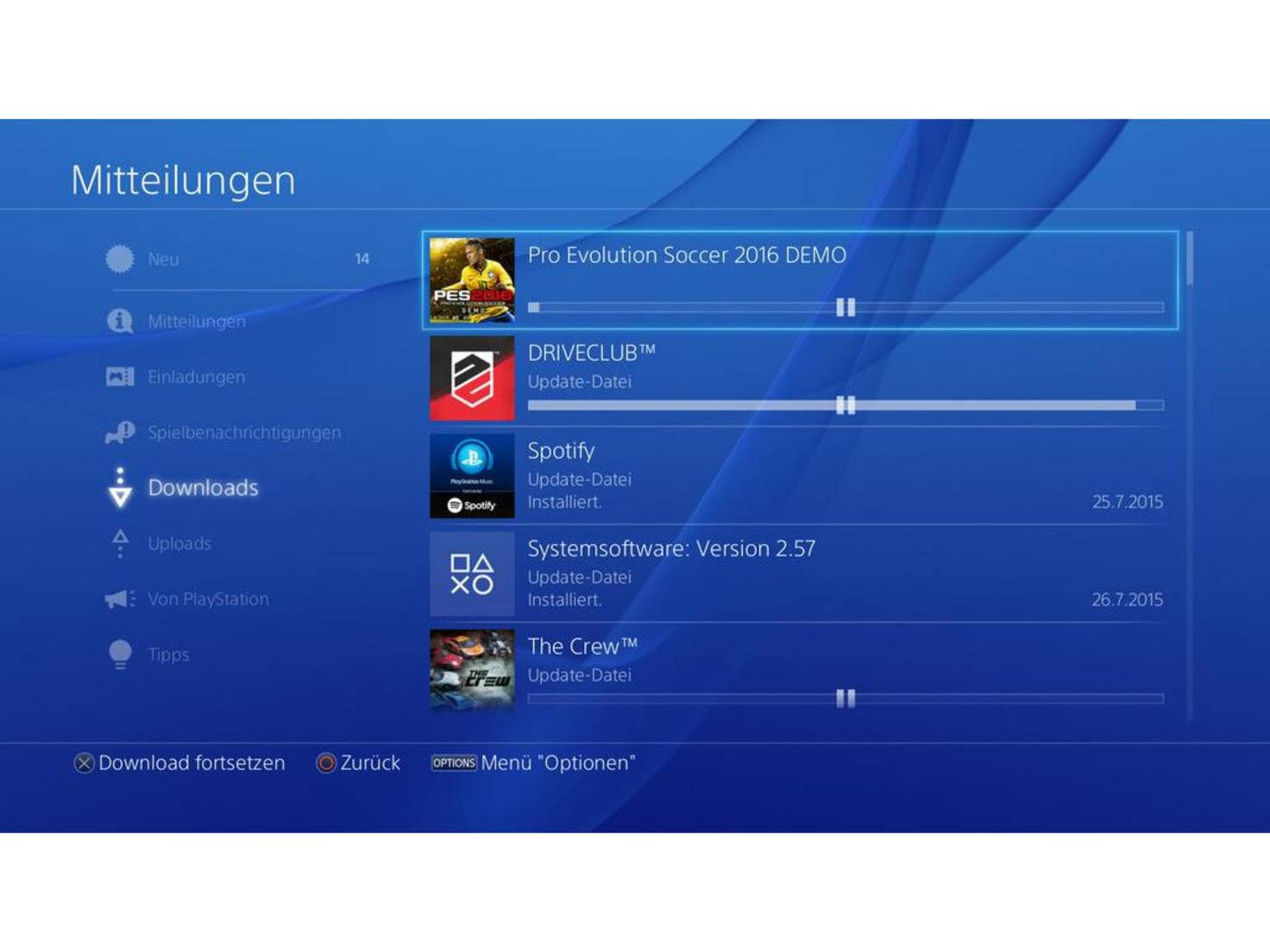 Im Idealfall gehen PS4-Downloads nun erheblich schneller vonstatten.