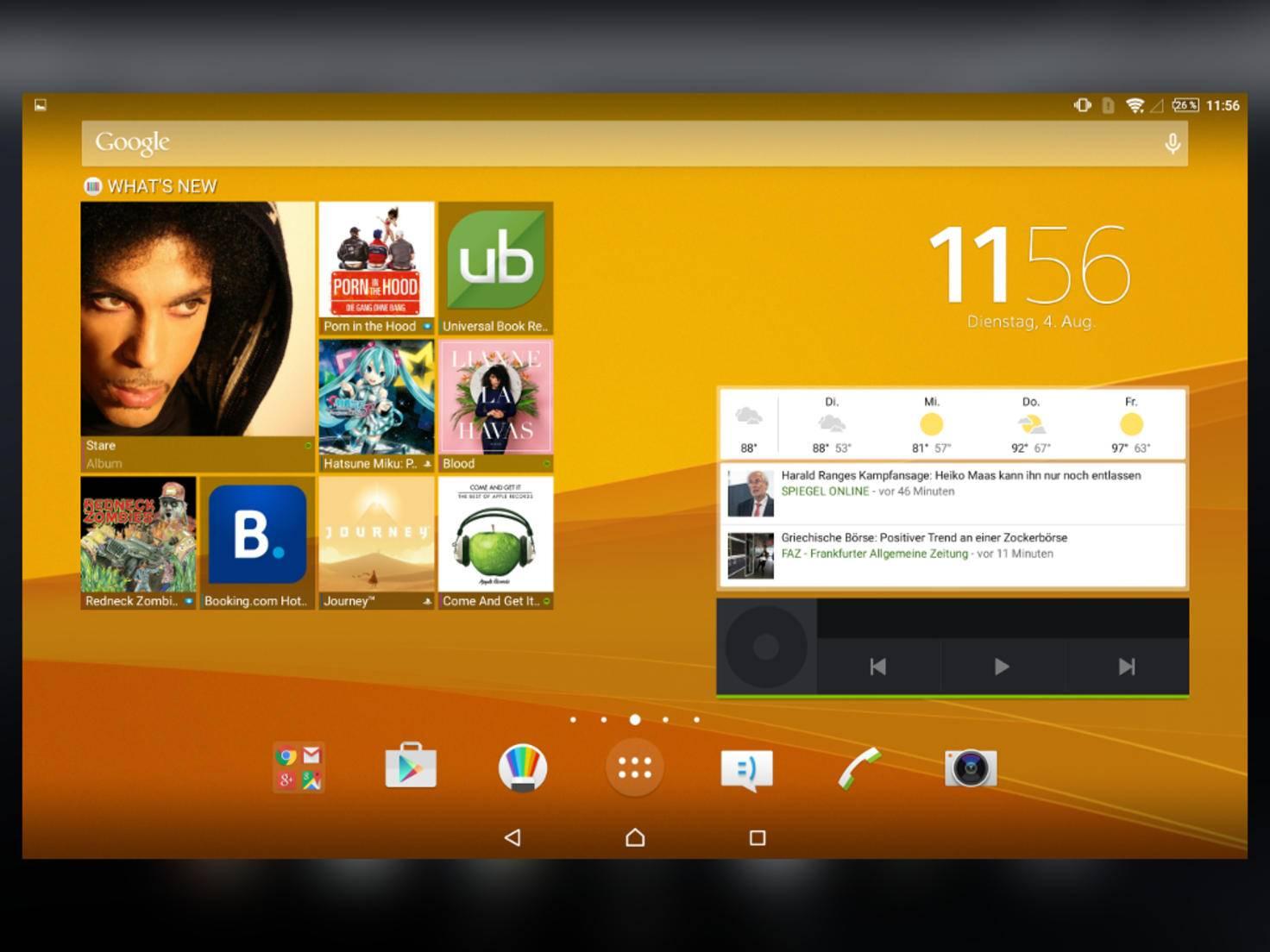 Der Homescreen und andere Elemente erscheinen dann in neuem Glanz.