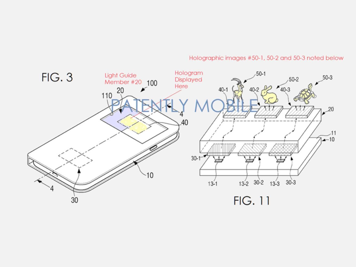 Samsung Patent Holografie