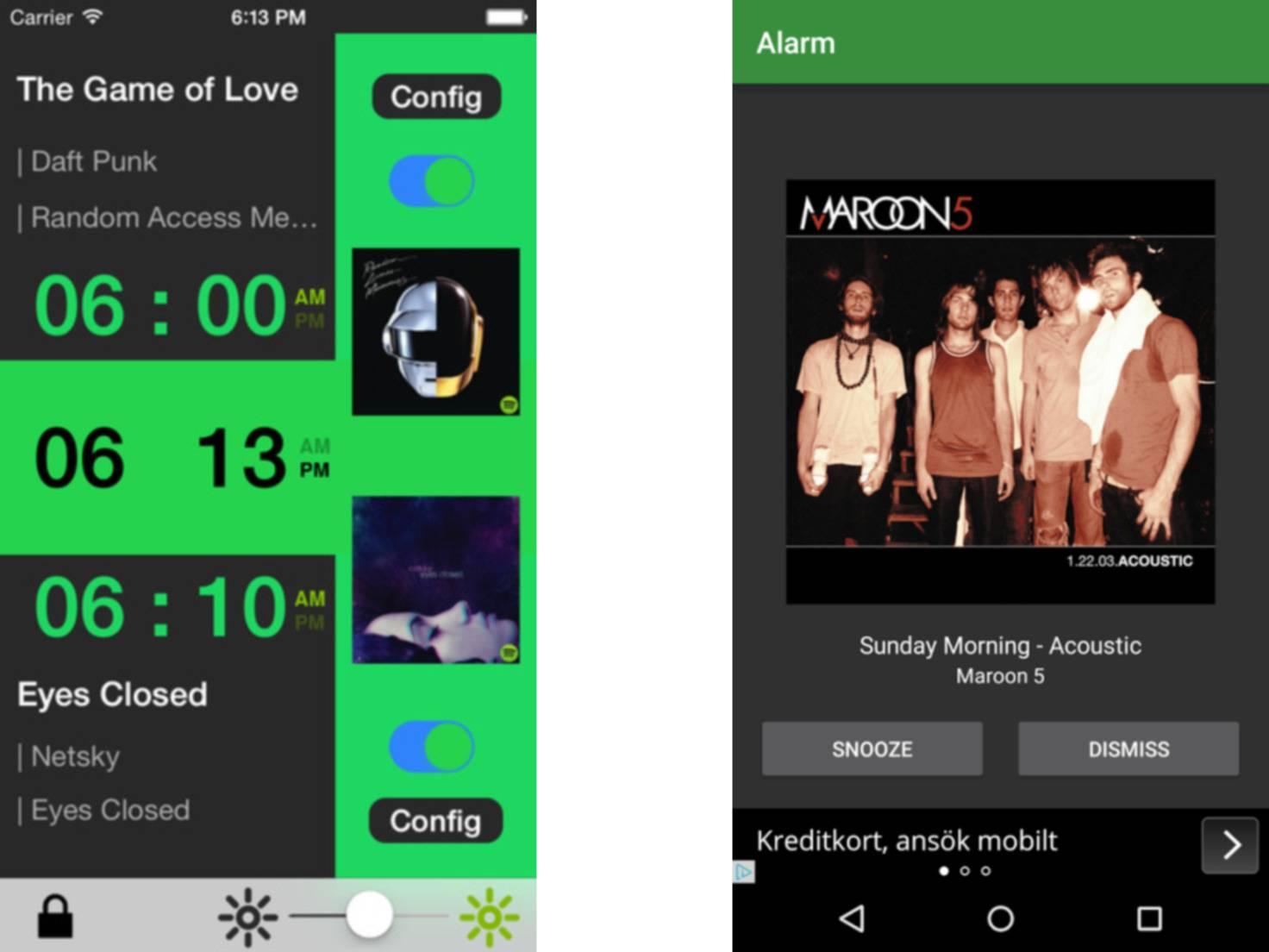 Apps Wecker Spotify