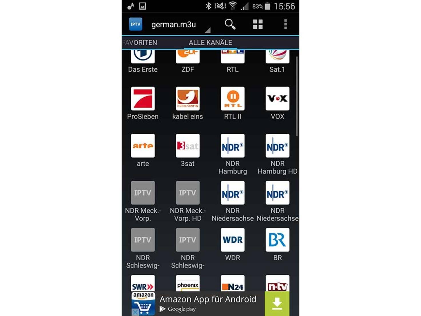 Fensehen per Android-Smartphone