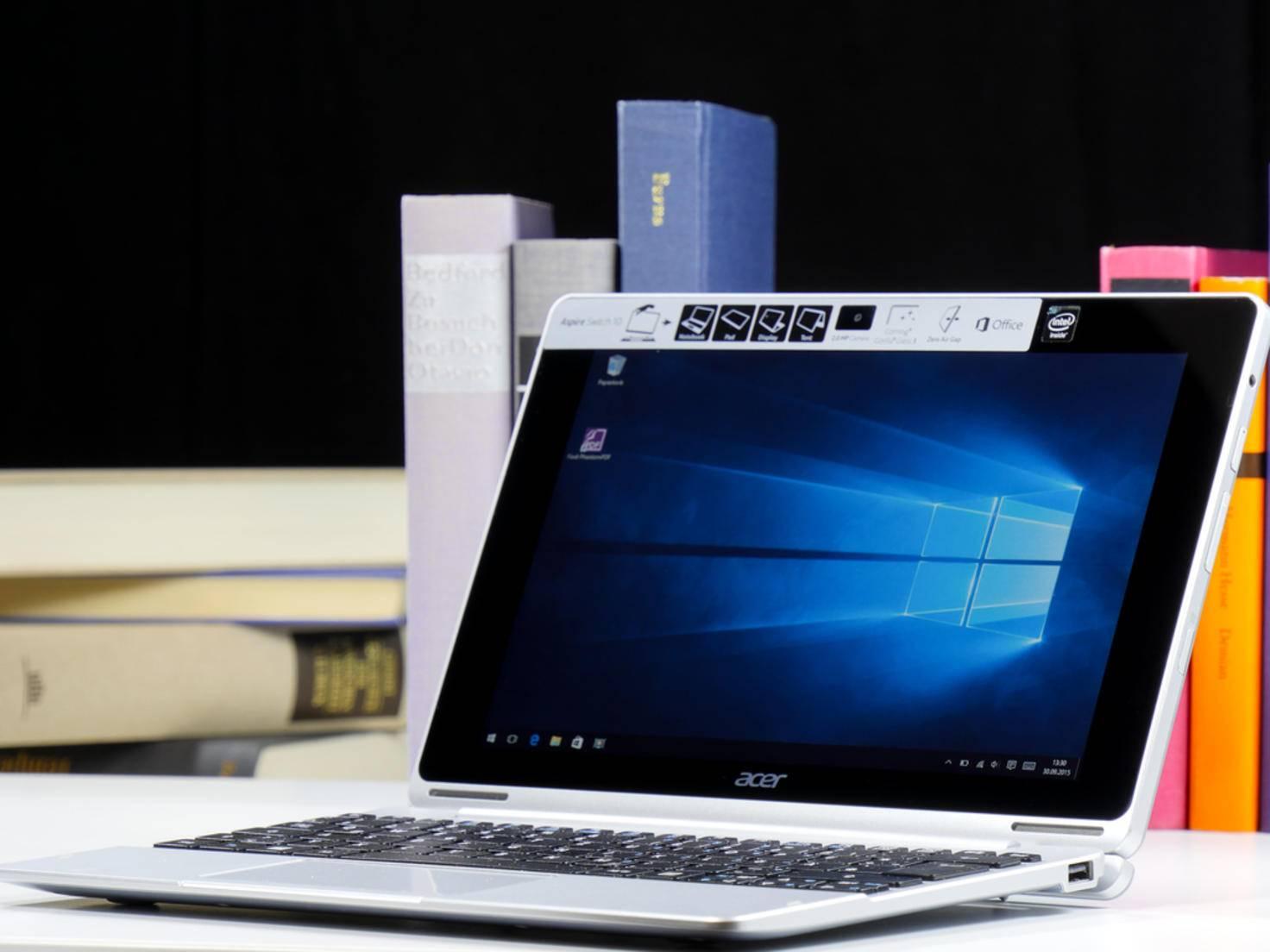 Mit Windows 10 können Convertibles zwischen der Desktop-...