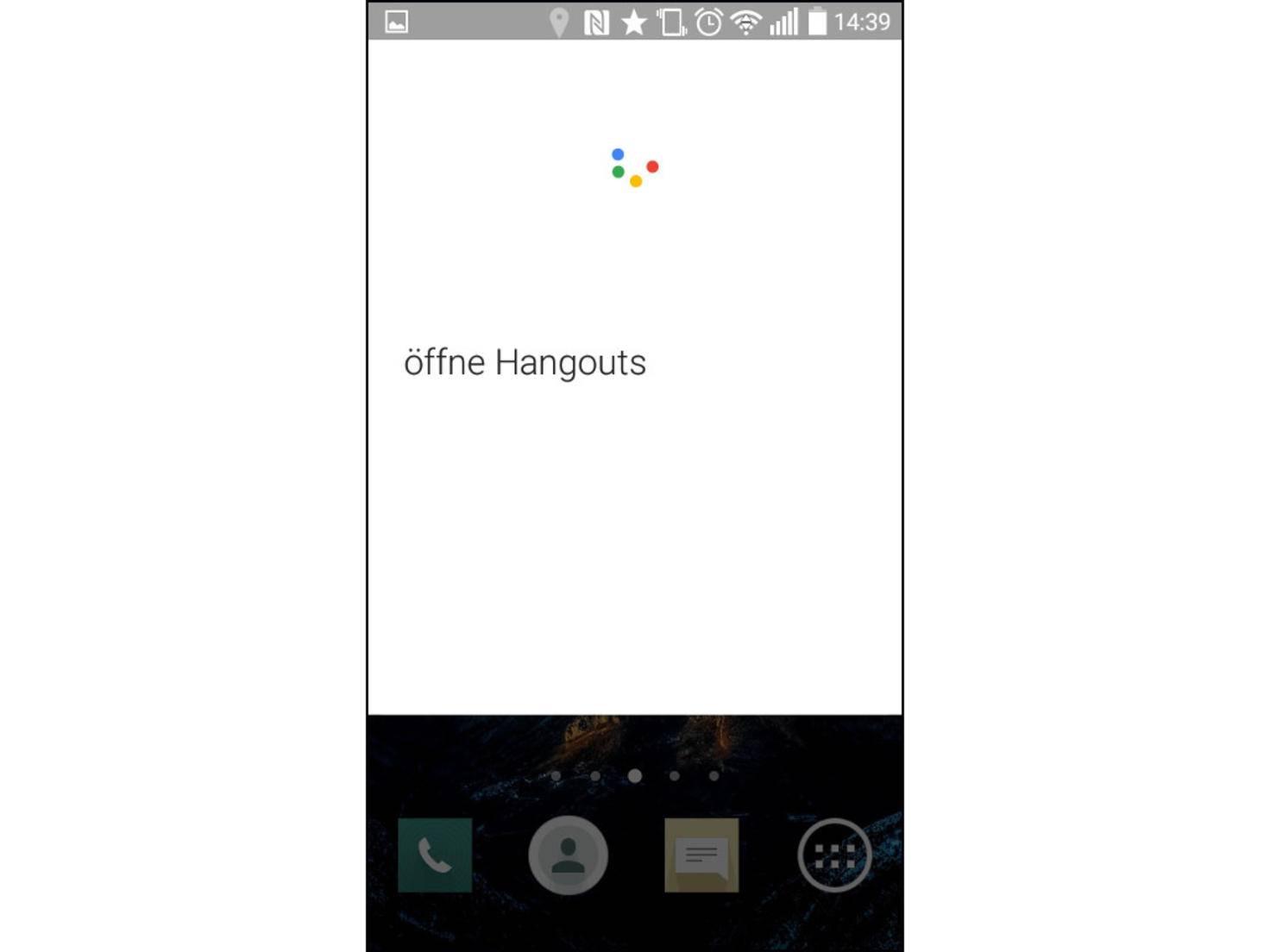 Viele Apps kann Android auf Ansage starten.