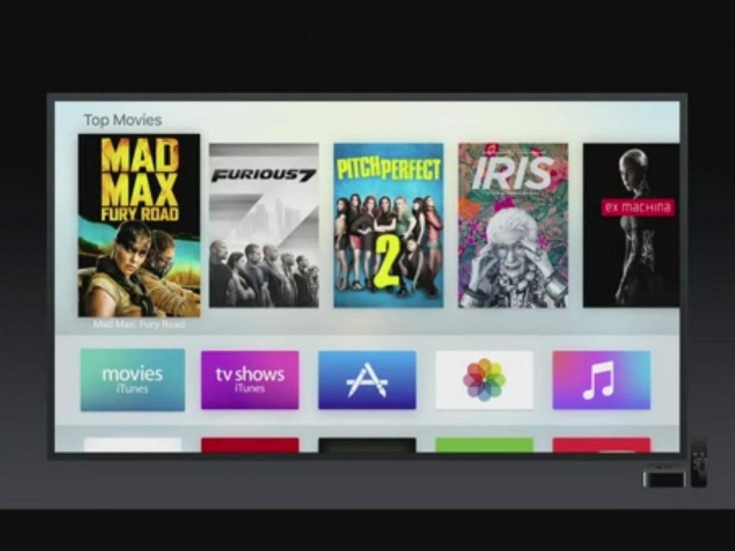 Bestandteil der Apple Keynote: ein neues Apple TV