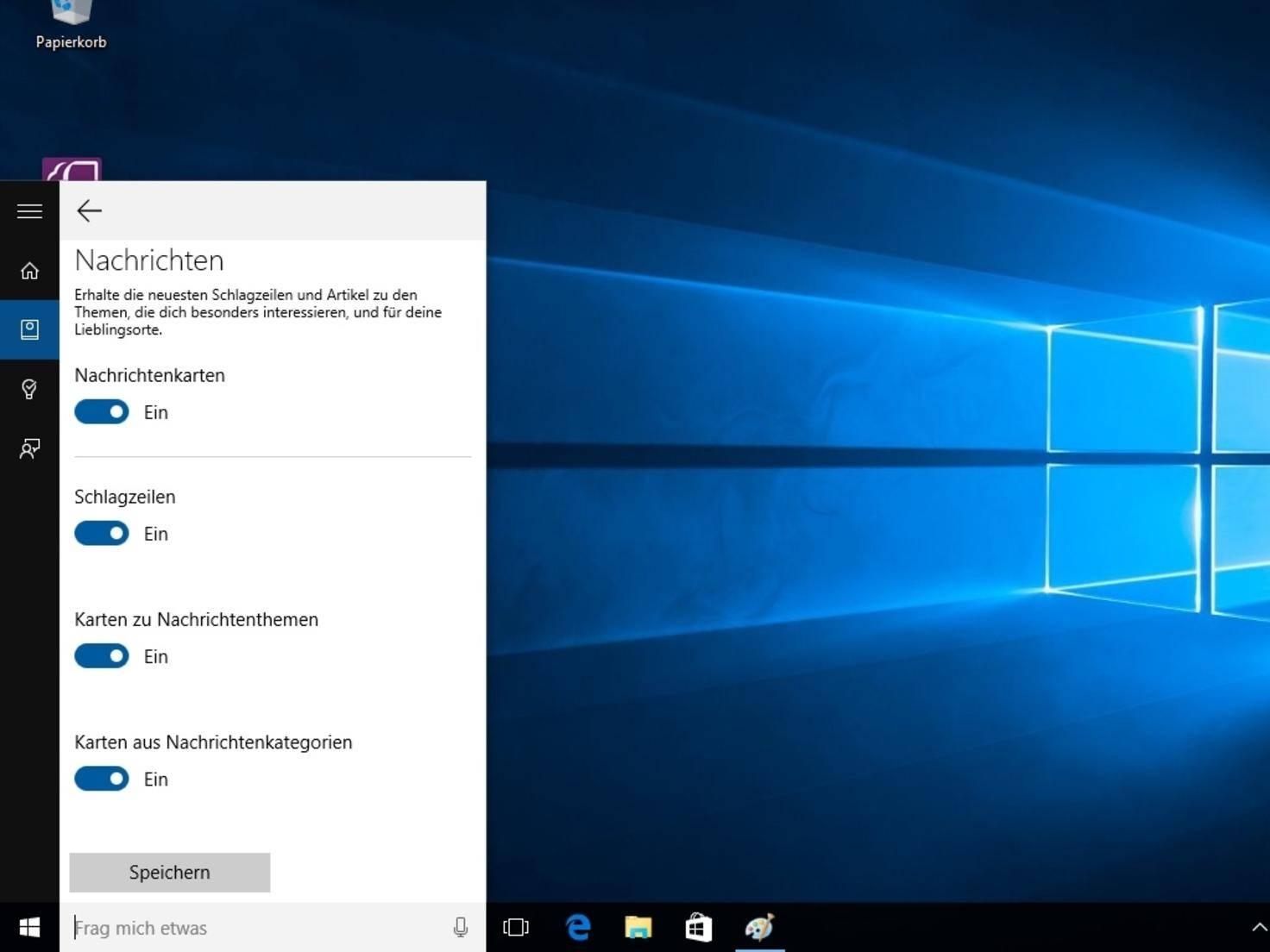 Auch als Nachrichtenzentrale lässt sich Cortana nutzen.