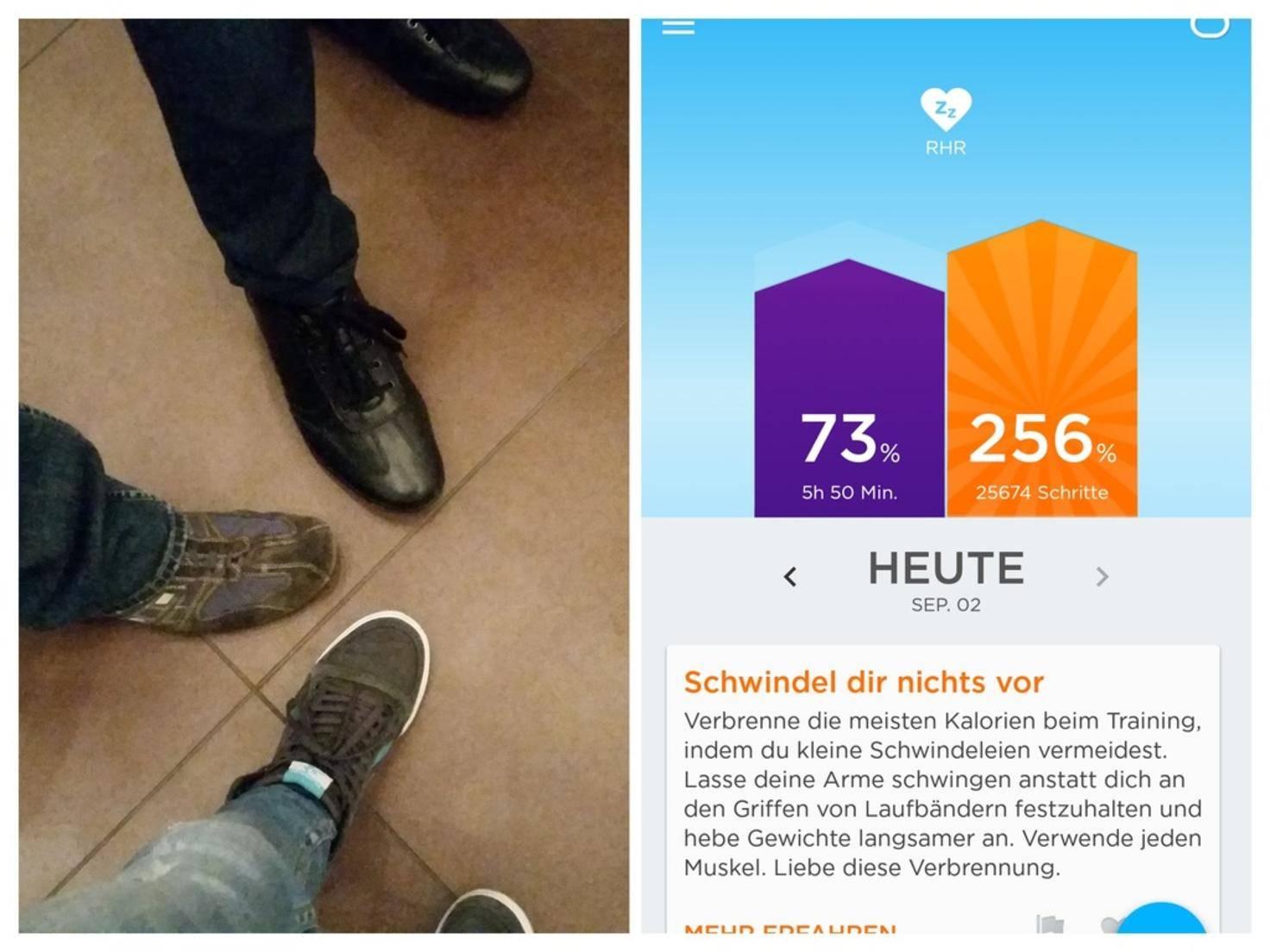 Knapp 26.000 Schritte an einem Messetag. Pro Person natürlich!