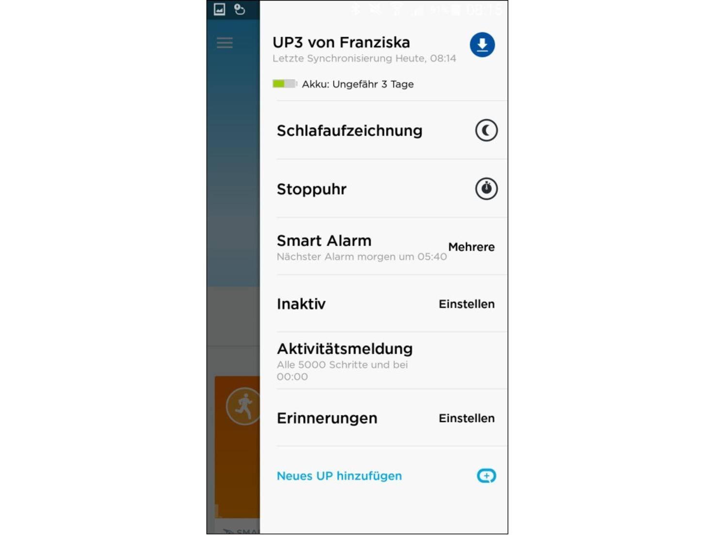 ... dass ein Firmware-Update für das Up3 verfügbar ist.