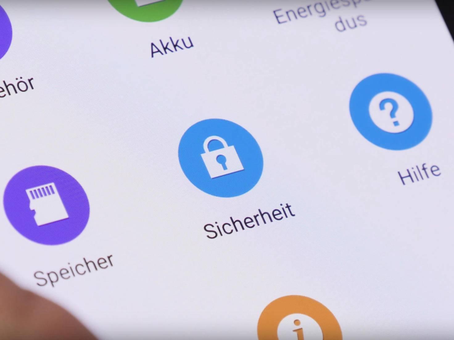 Sicherheitseinstellungen in Android