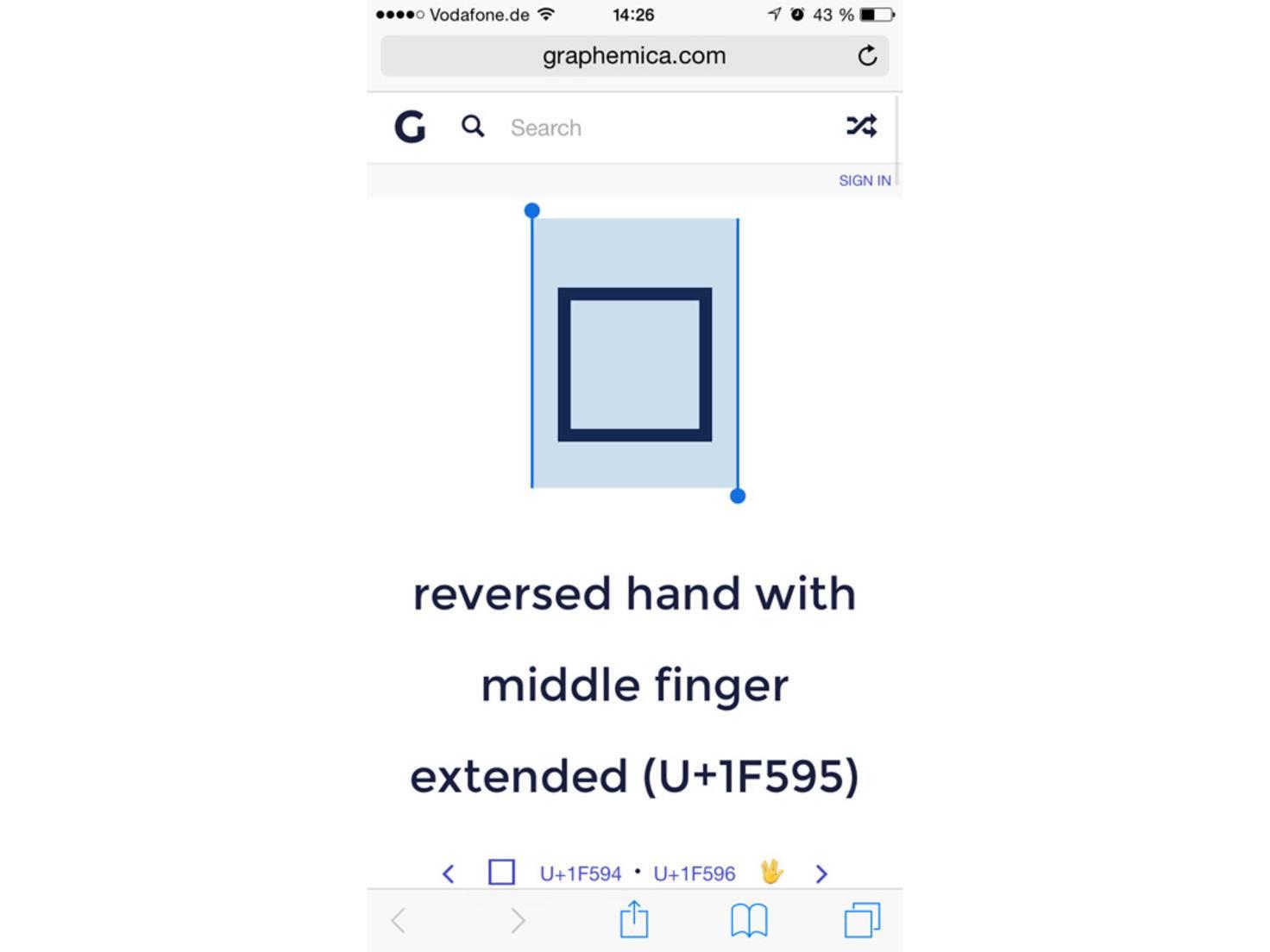 Dazu lediglich das Quadrat lange gedrückt halten und auf das iPhone kopieren.