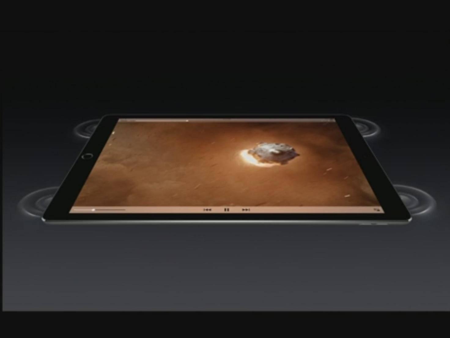 Das iPad Pro hat vier Lautsprecher.