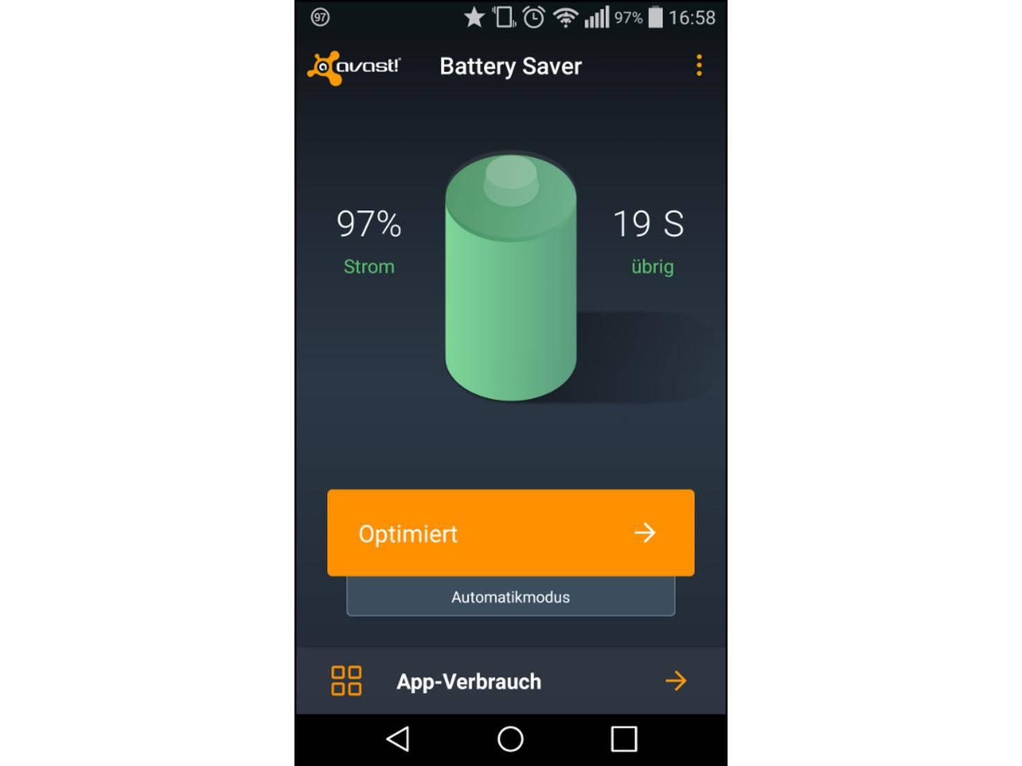 Auch Avast Battery Saver bietet unterschiedliche Stromprofile.