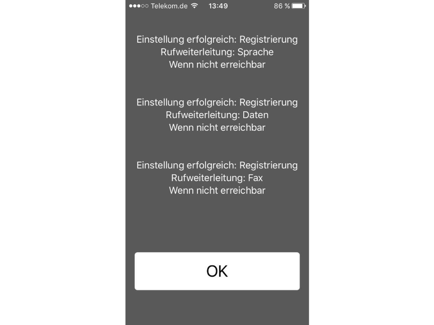 GSM-Code auf dem iPhone