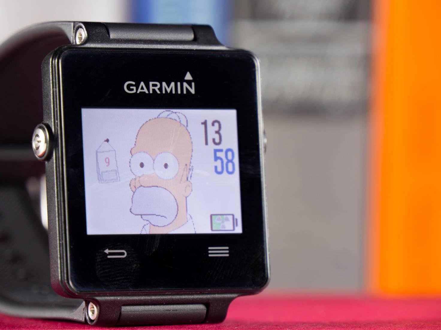 Keine Sorge: Mit zunehmender Schrittzahl guckt Homer Simpson immer freundlicher.