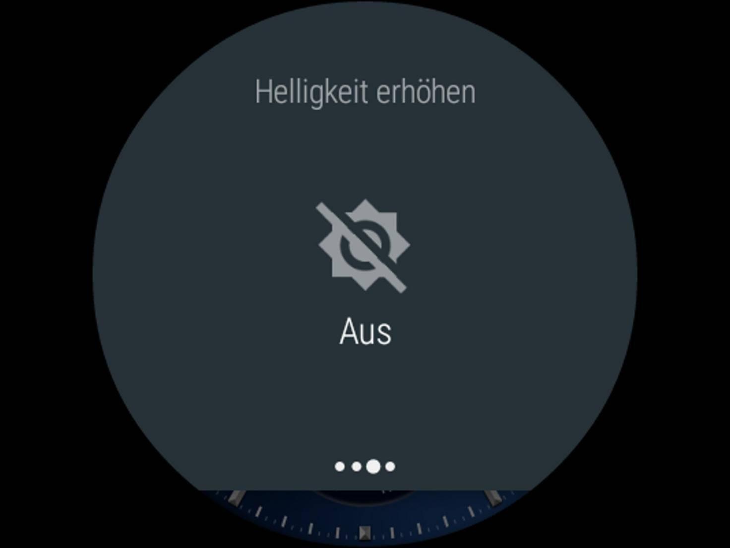 Android Wear Helligkeit erhöhen