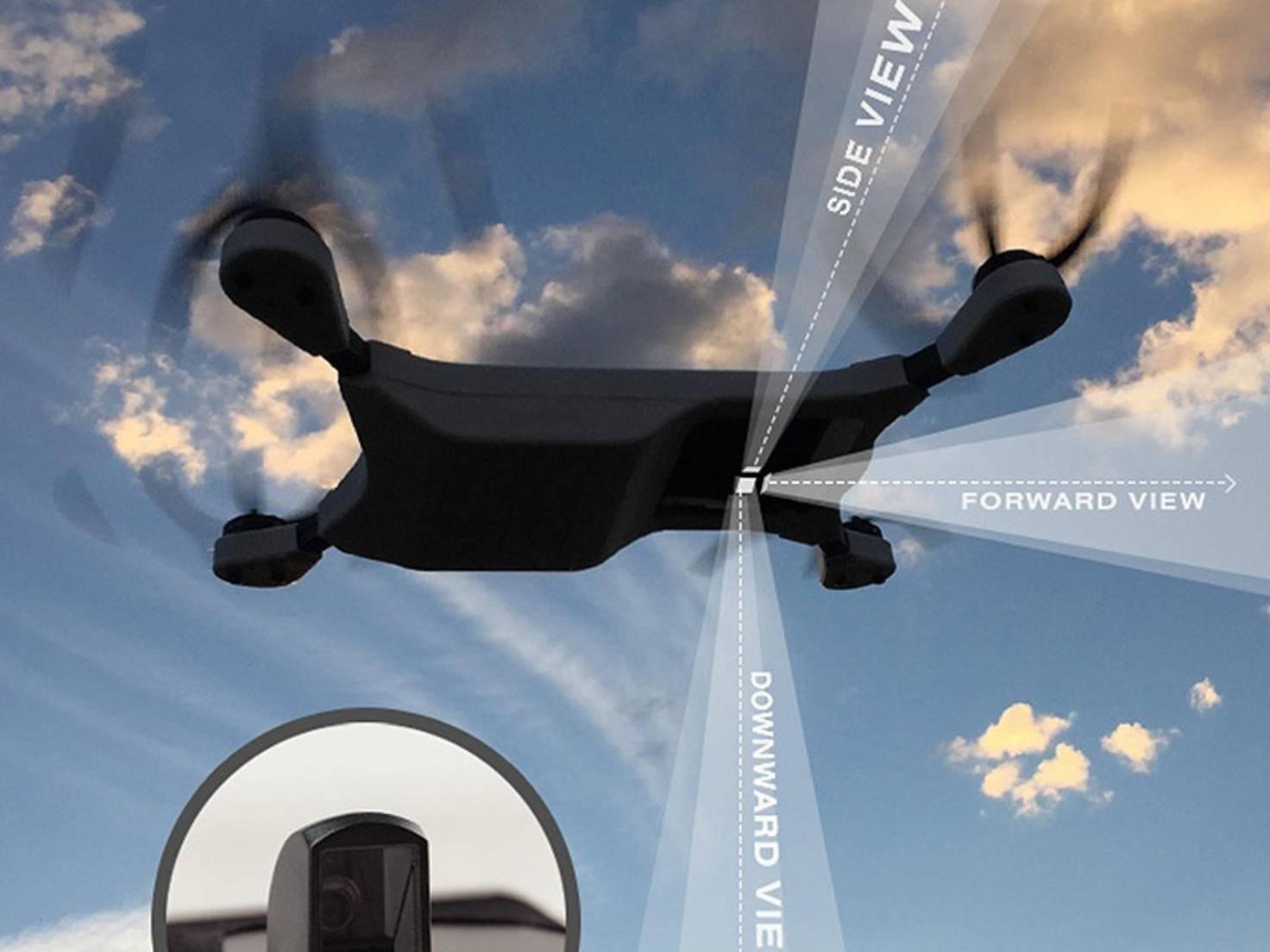 Dank eines Kameraspiegels sind Aufnahmen aus drei Perspektiven möglich.