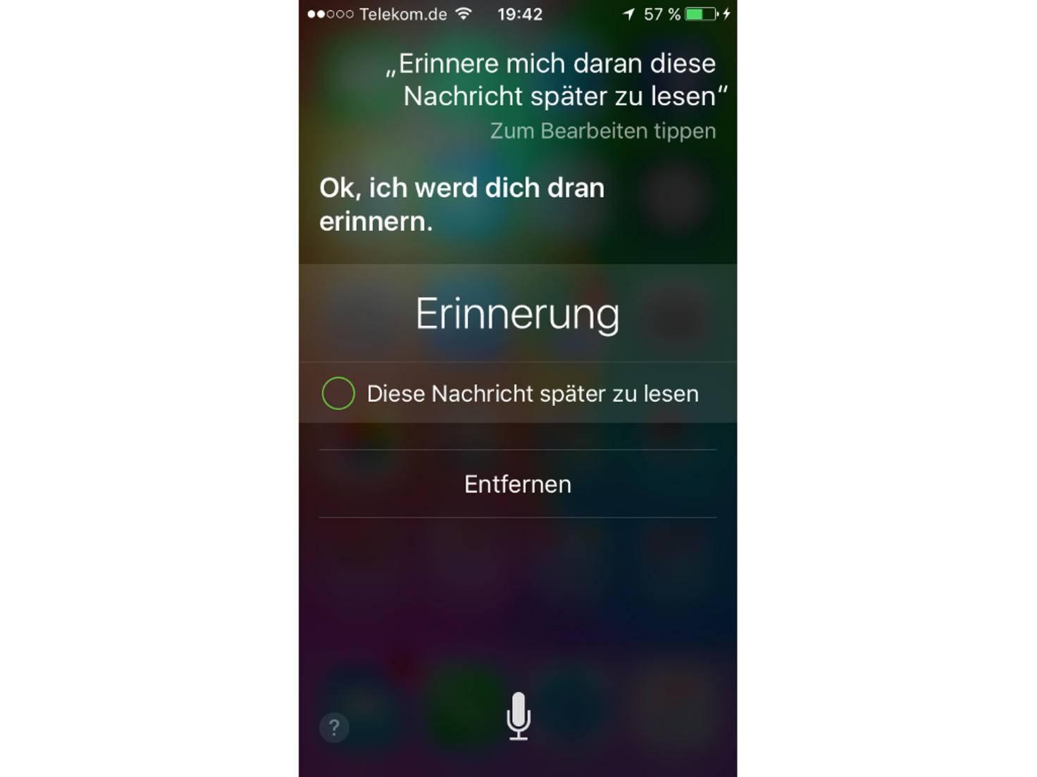 Siri unter iOS 9