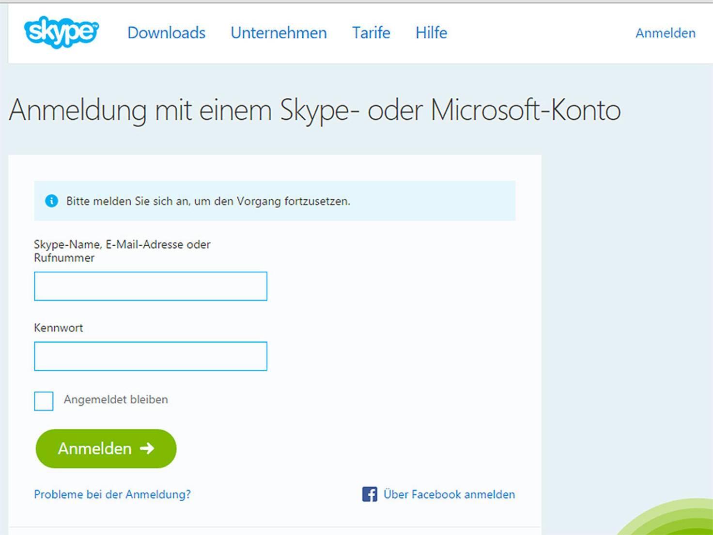 Skype Kundendienst
