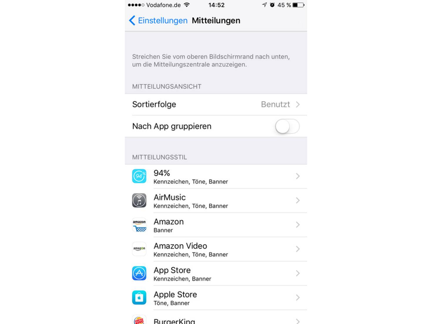 iPhone6s-iOS-Mitteilung