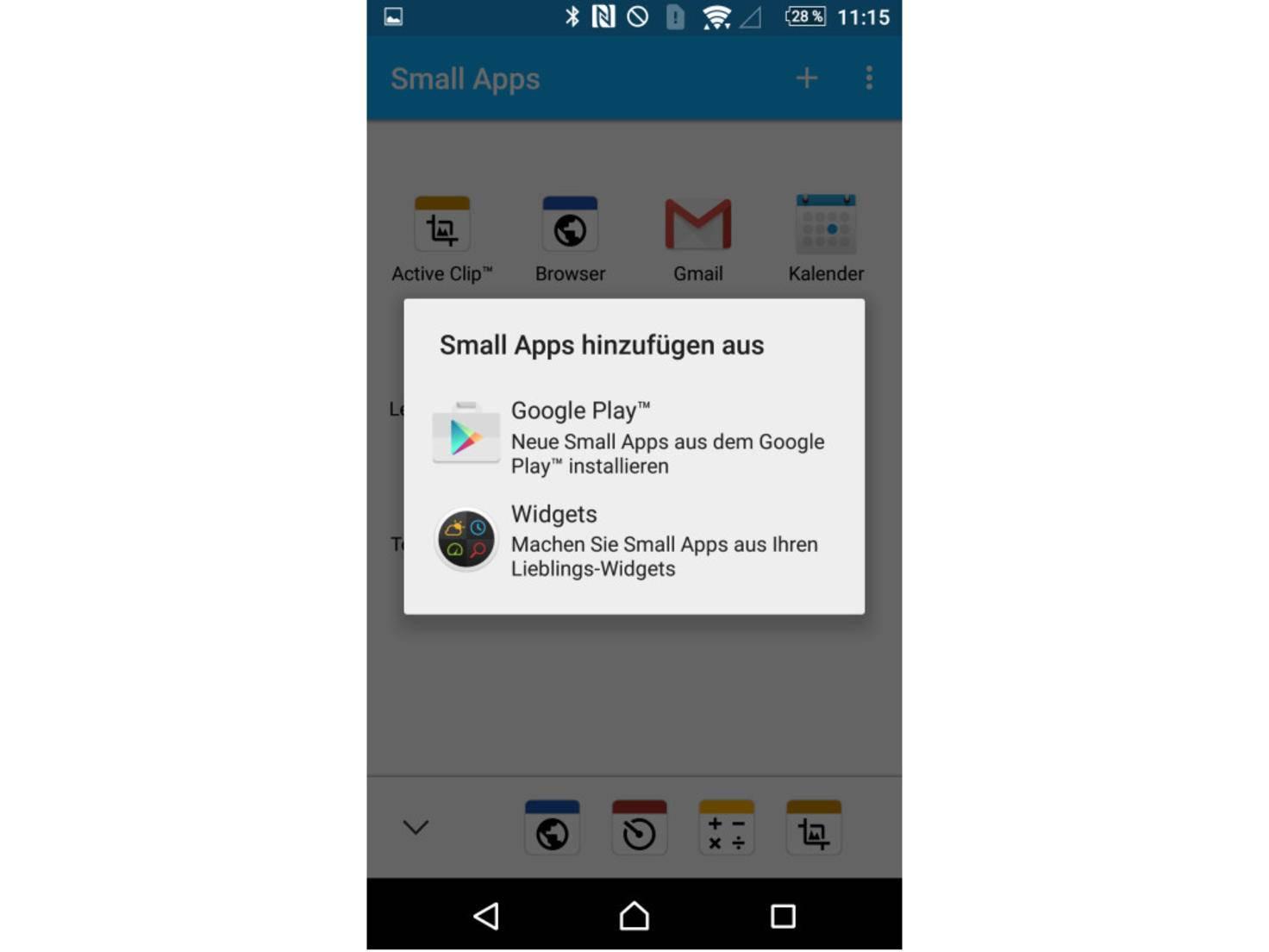 Weitere Anwendungen lassen sich via Google Play hinzufügen.