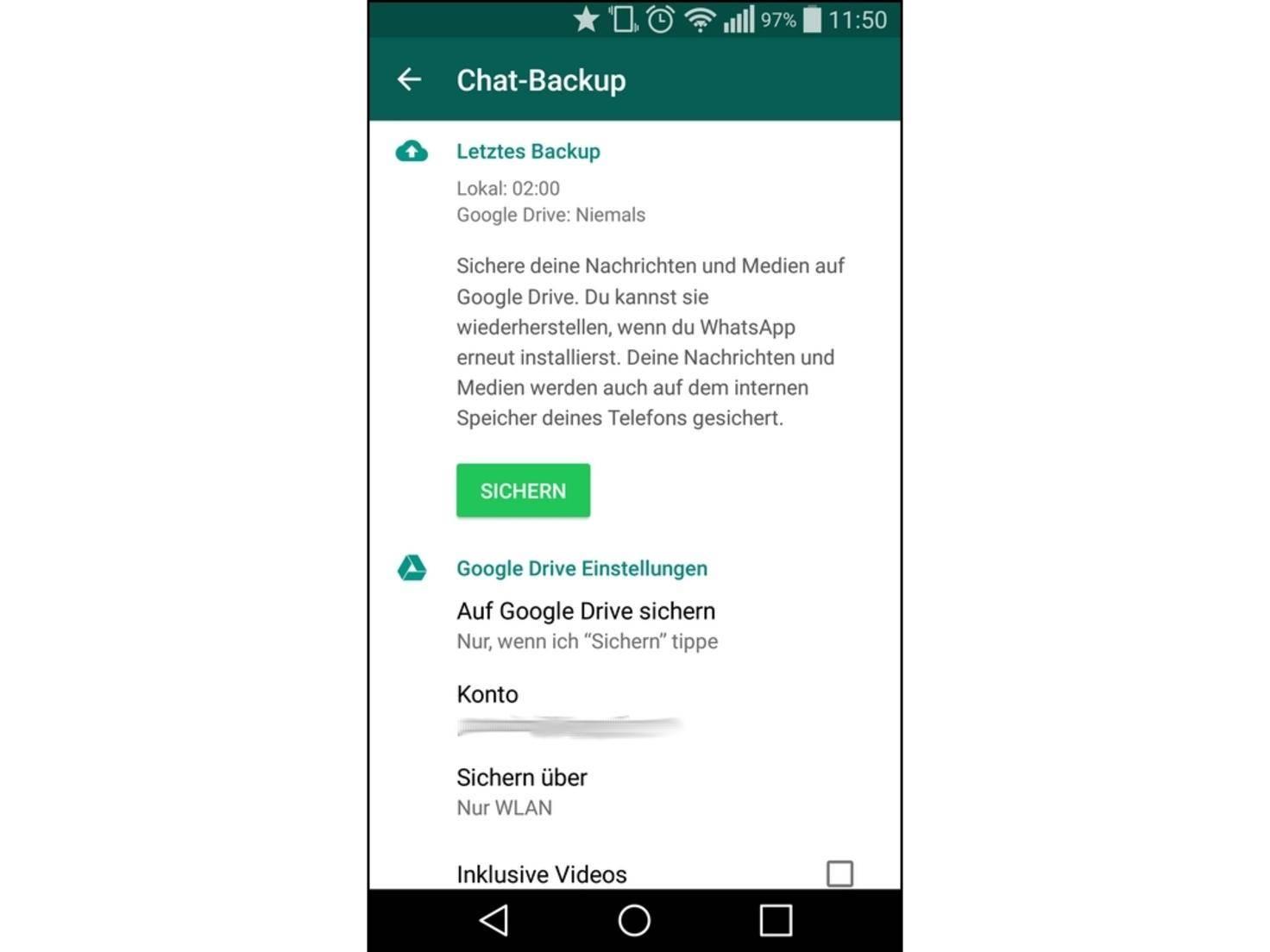 WhatsApp Backup So sicherst Du Deine Daten mit Google Drive
