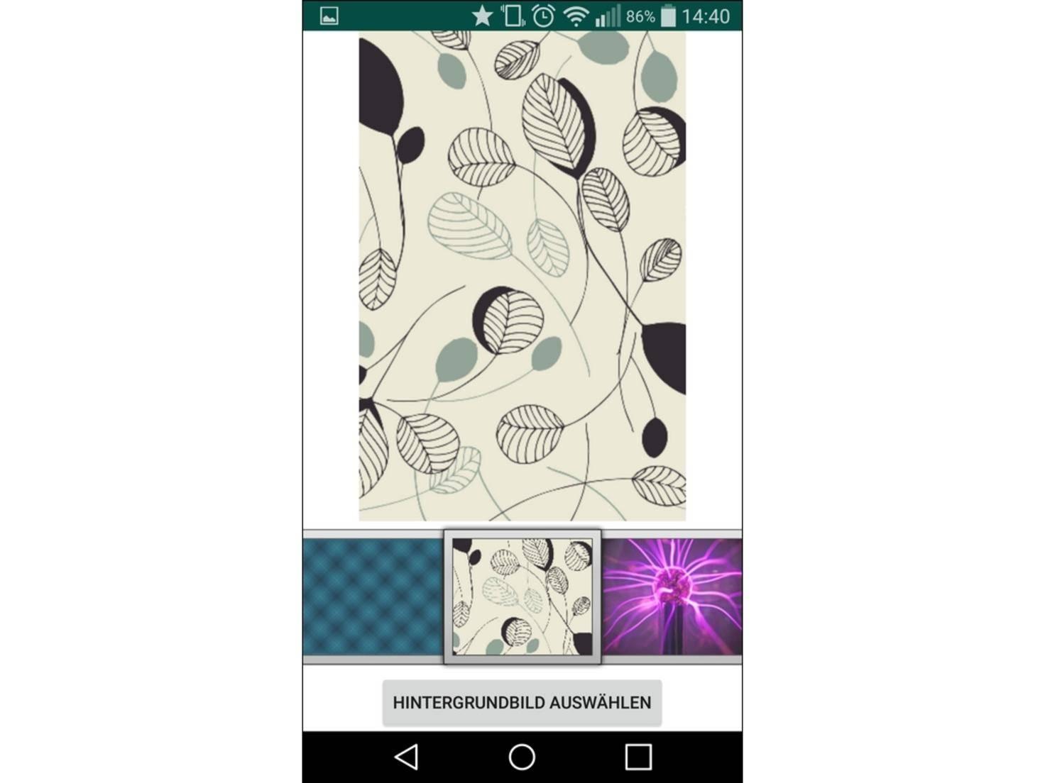 WhatsApp Wallpaper bietet eine ordentliche, aber keine Überragende Auswahl.