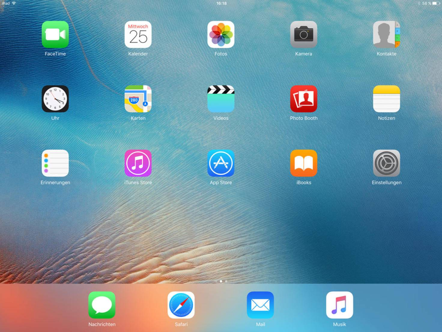 Riesiger Bildschirm, riesige Lücken: iOS 9 nutzt nicht das volle Potenzial des Tablets.