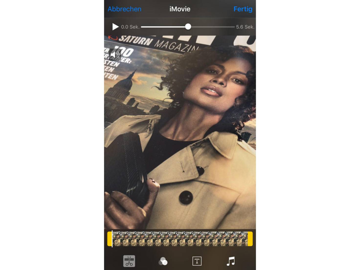 iMovie hat eine Schnittfunktion integriert.