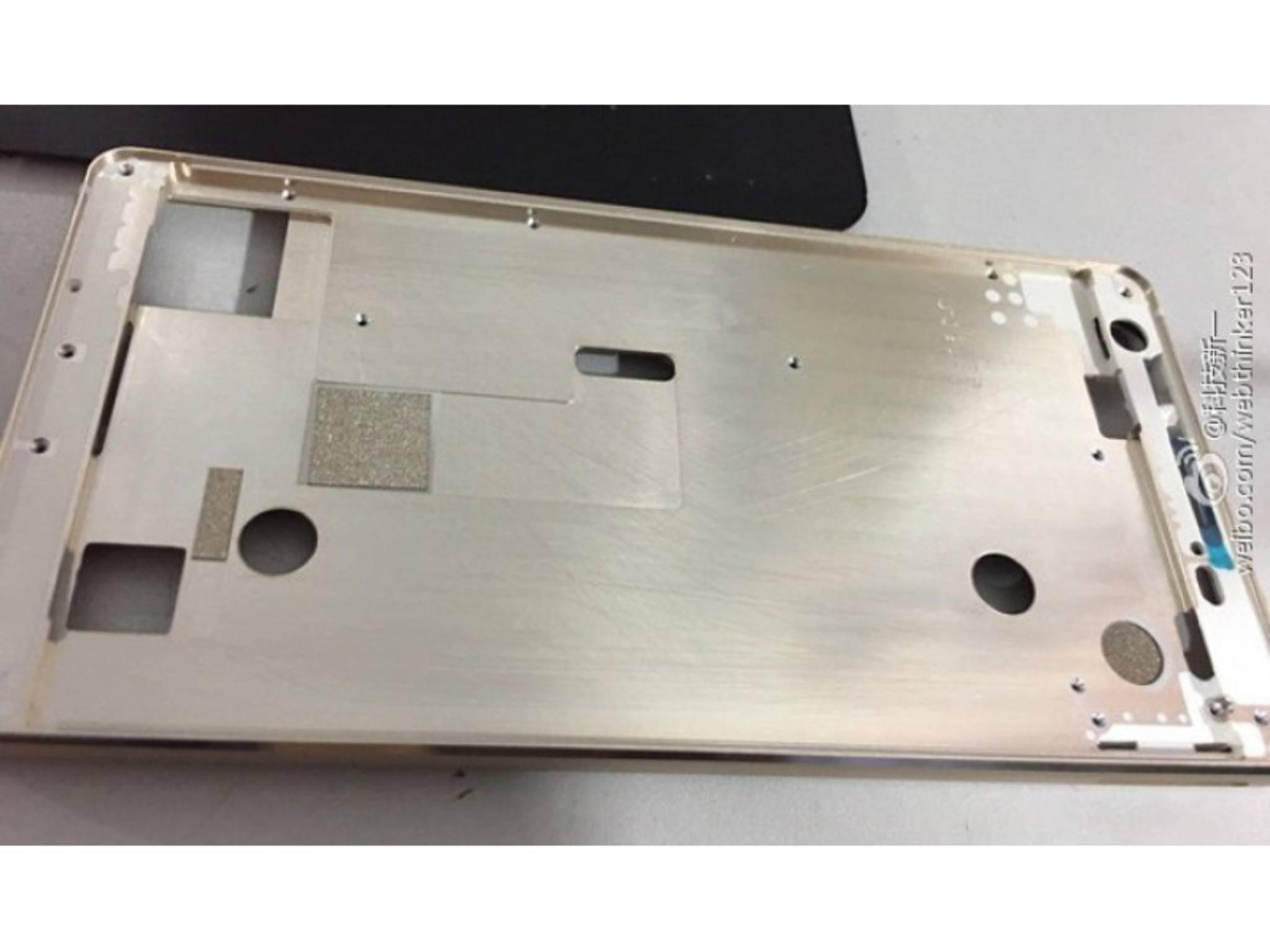 Angebliches Gehäuse des Galaxy S7.