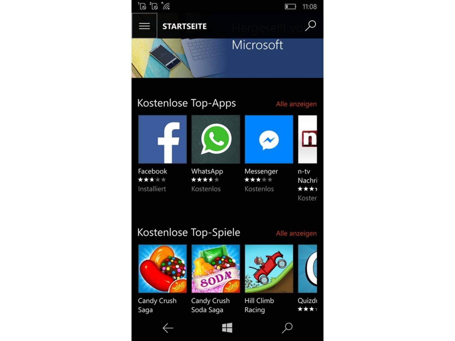 Der App Store passt optisch zum restlichen Software-Design.