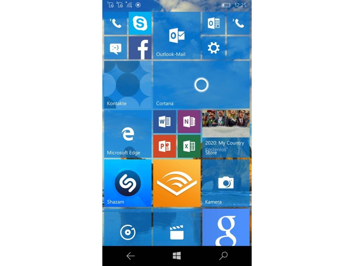 Windows phone 10 apps im hintergrund