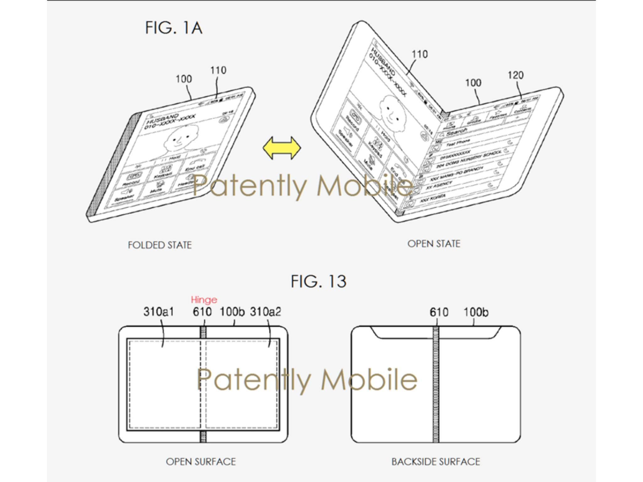 Samsung-Patent für ein faltbares Smartphone